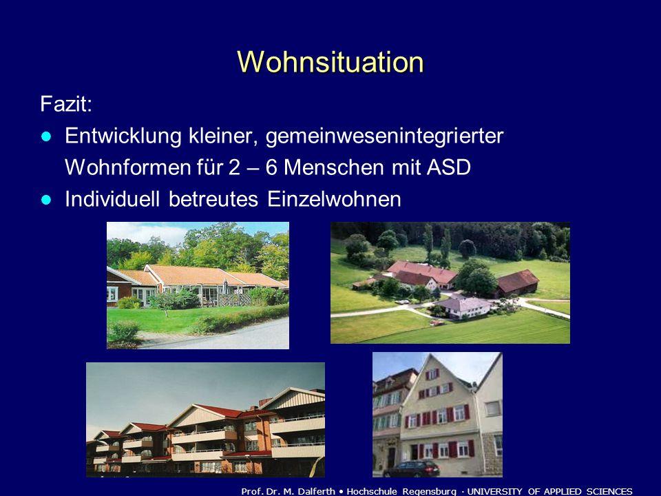 Wohnsituation Fazit: Entwicklung kleiner, gemeinwesenintegrierter