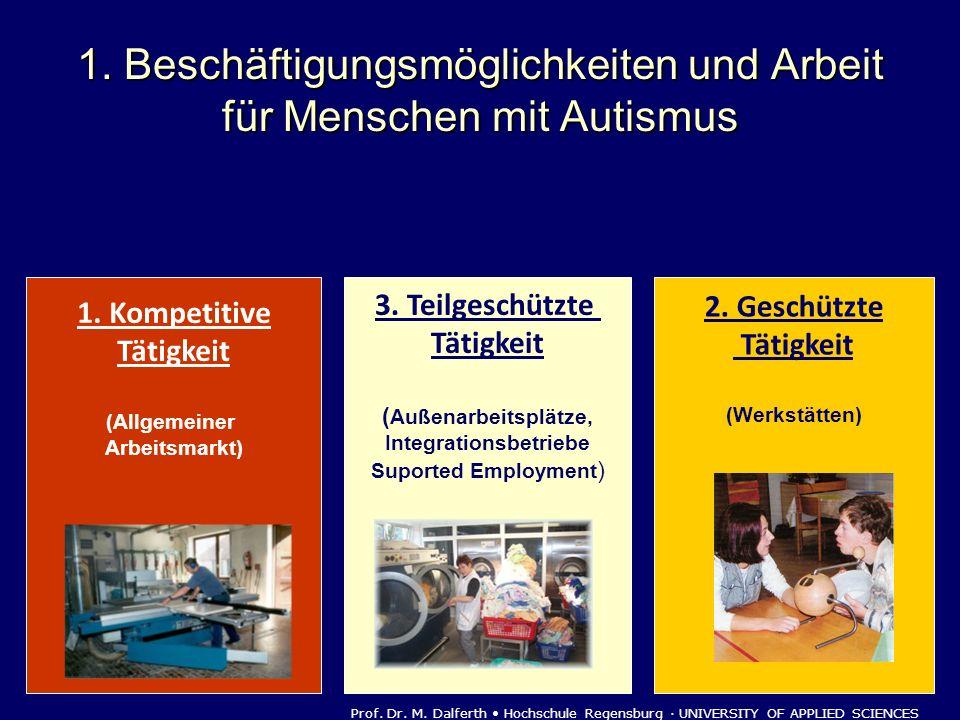 1. Beschäftigungsmöglichkeiten und Arbeit für Menschen mit Autismus