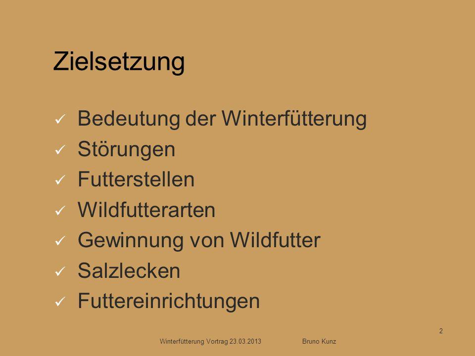 Winterfütterung Vortrag 23.03.2013 Bruno Kunz