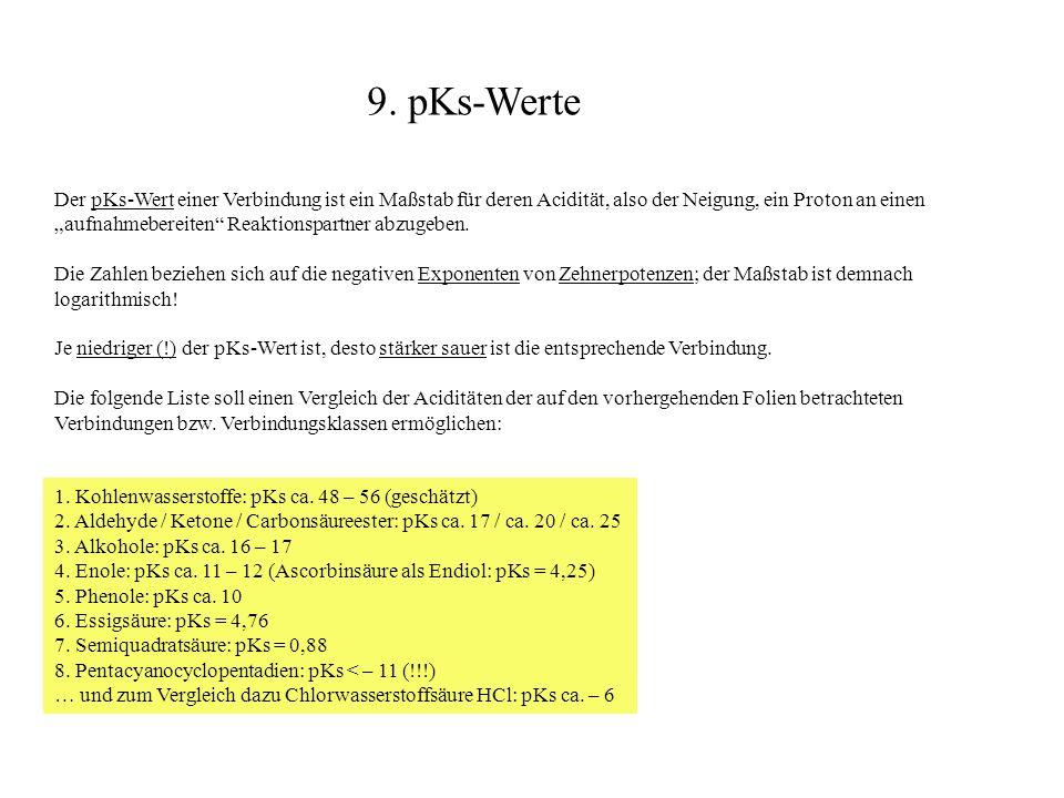 9. pKs-Werte