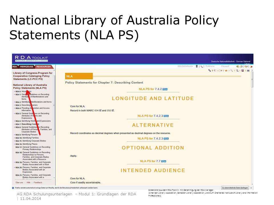 National Library of Australia Policy Statements (NLA PS)