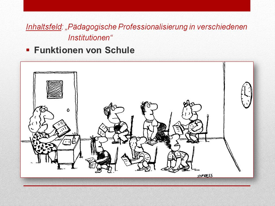 "Inhaltsfeld: ""Pädagogische Professionalisierung in verschiedenen"