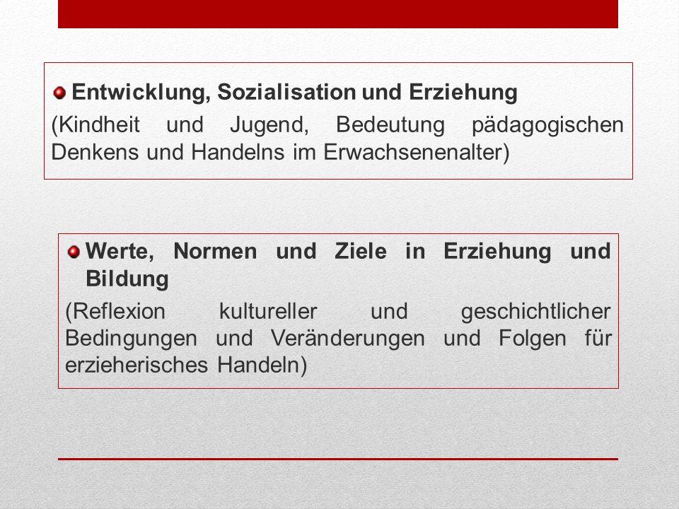 Entwicklung, Sozialisation und Erziehung