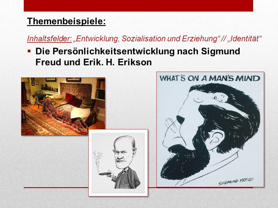 Die Persönlichkeitsentwicklung nach Sigmund Freud und Erik. H. Erikson