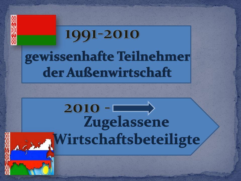 1991-2010 2010 - Zugelassene Wirtschaftsbeteiligte