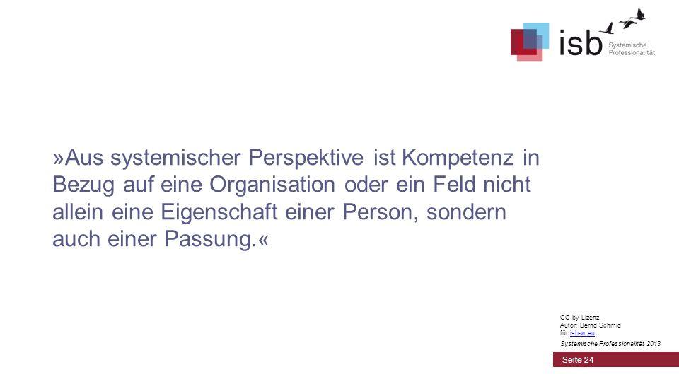 »Aus systemischer Perspektive ist Kompetenz in Bezug auf eine Organisation oder ein Feld nicht allein eine Eigenschaft einer Person, sondern auch einer Passung.«
