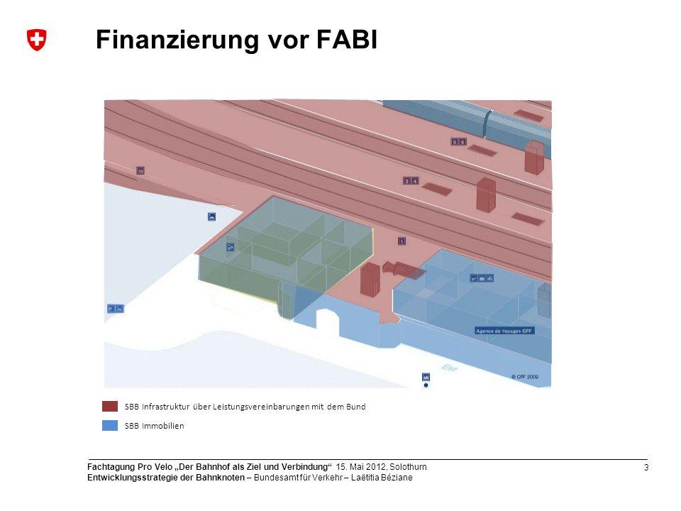 Finanzierung vor FABI Besonderheit im Eisenbahnbereich:
