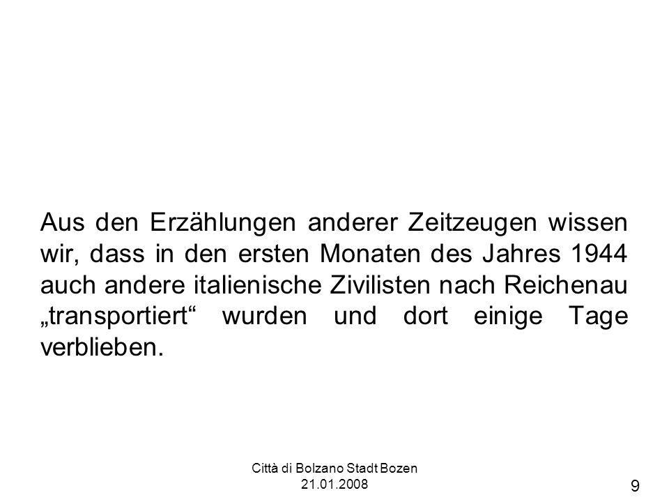 Città di Bolzano Stadt Bozen 21.01.2008