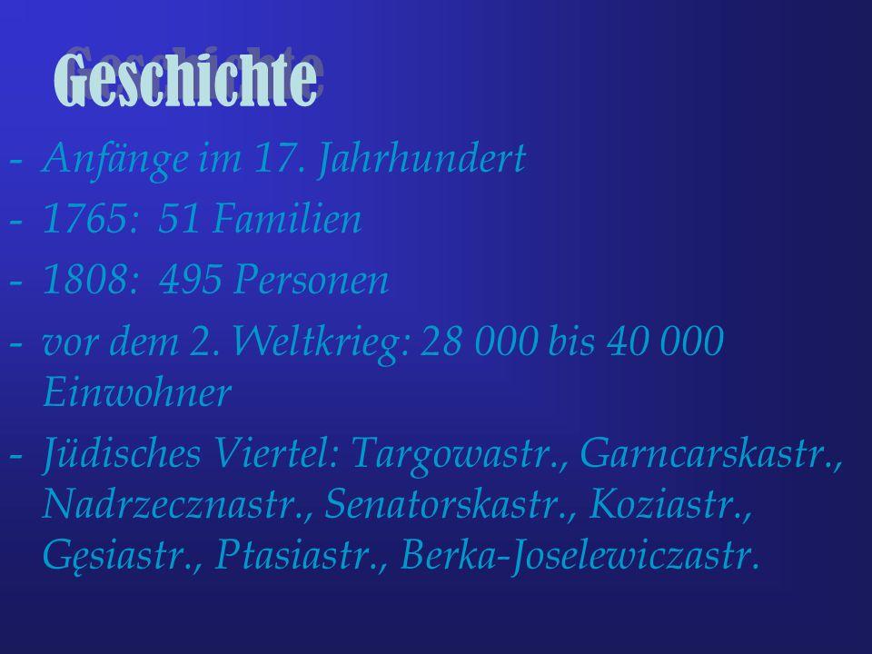 Geschichte Anfänge im 17. Jahrhundert 1765: 51 Familien