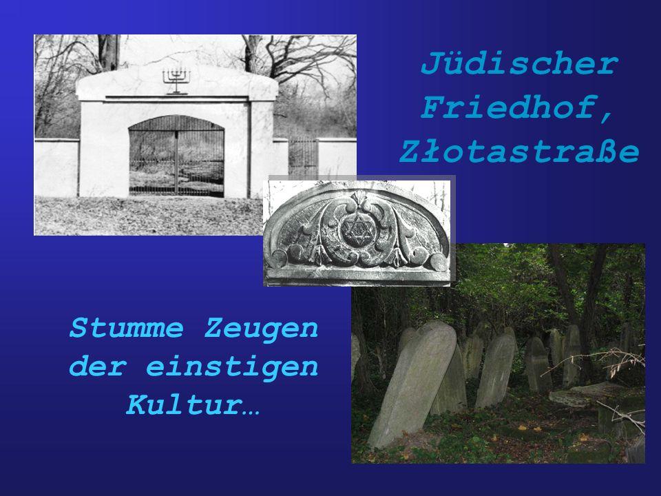 Jüdischer Friedhof, Złotastraße