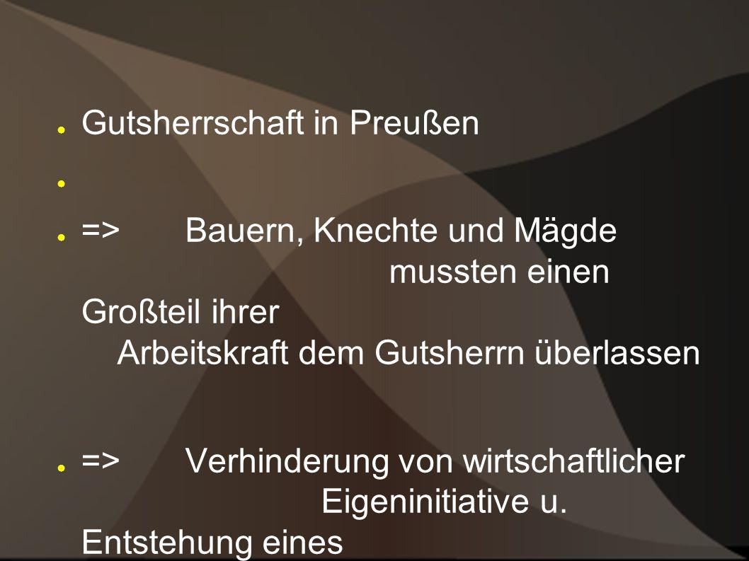 Gutsherrschaft in Preußen
