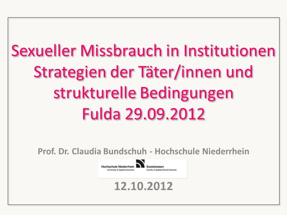 Prof. Dr. Claudia Bundschuh - Hochschule Niederrhein 12.10.2012