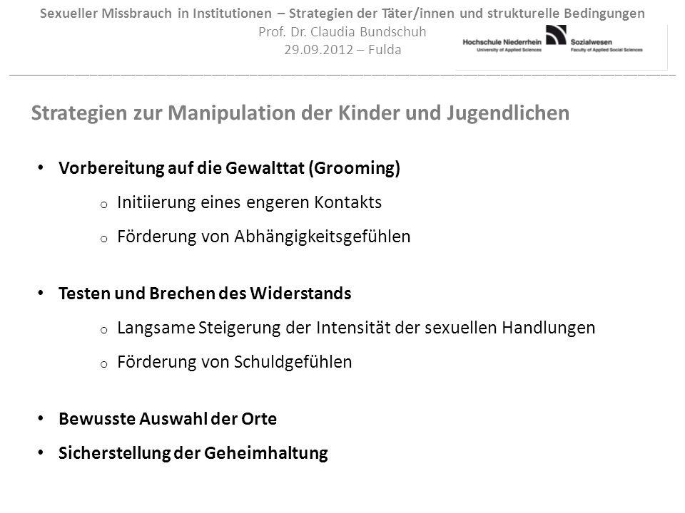 Strategien zur Manipulation der Kinder und Jugendlichen