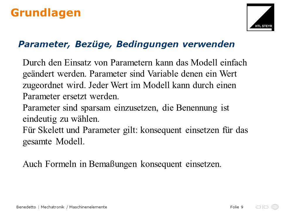 Grundlagen Parameter, Bezüge, Bedingungen verwenden.