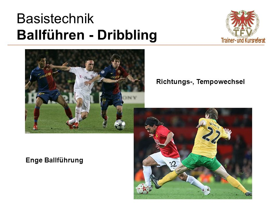 Basistechnik Ballführen - Dribbling