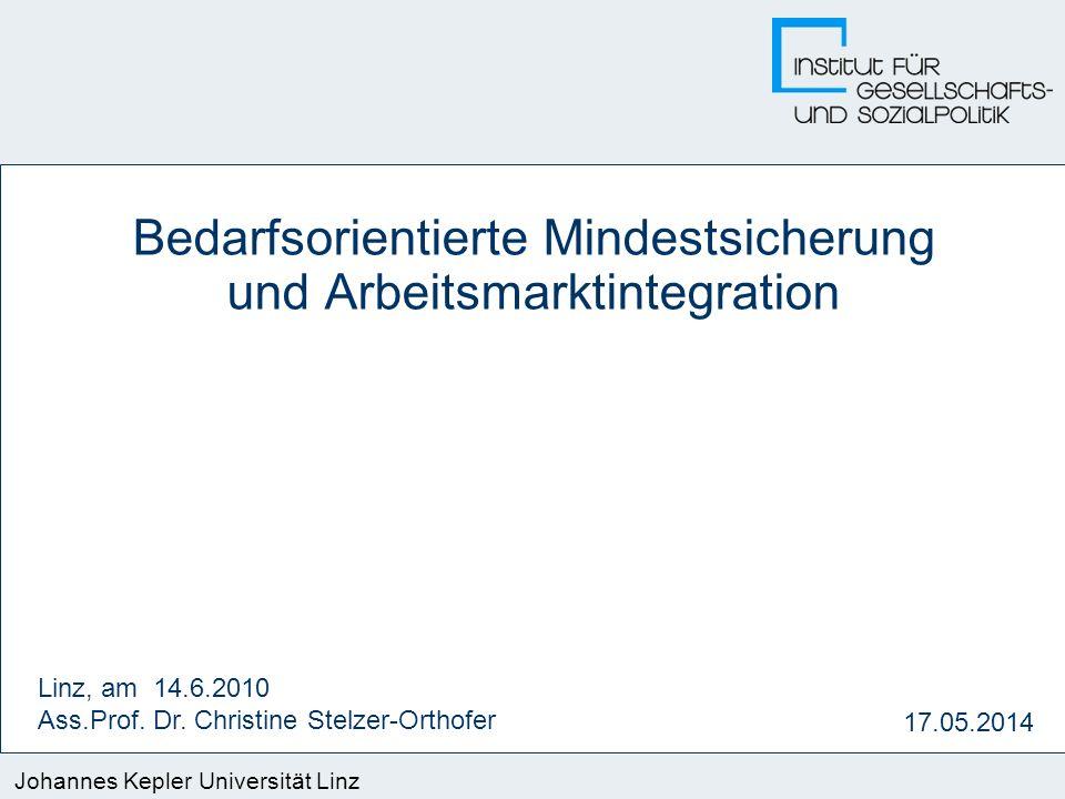 Bedarfsorientierte Mindestsicherung und Arbeitsmarktintegration