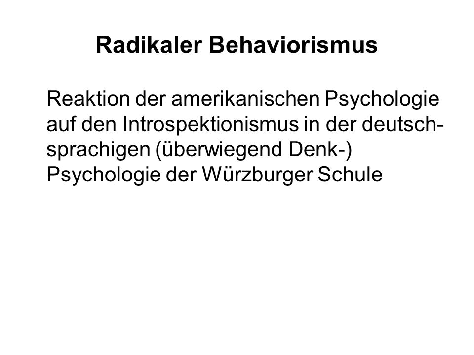 Radikaler Behaviorismus