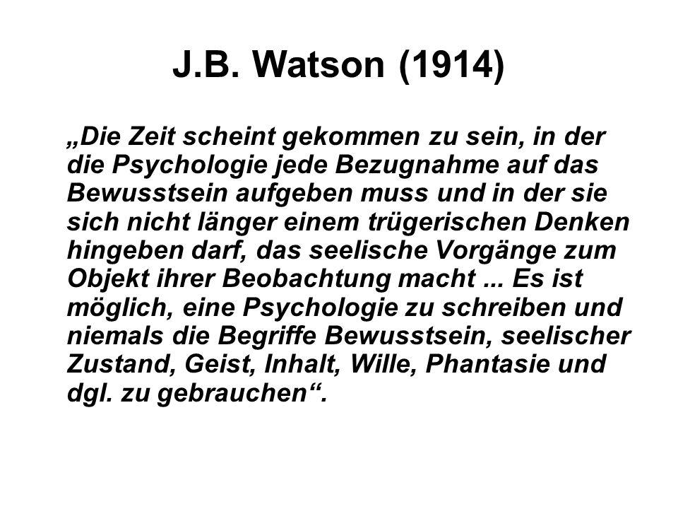 J.B. Watson (1914)