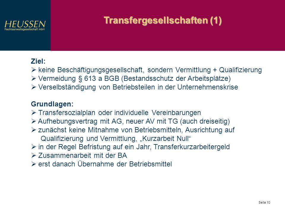 Transfergesellschaften (1)