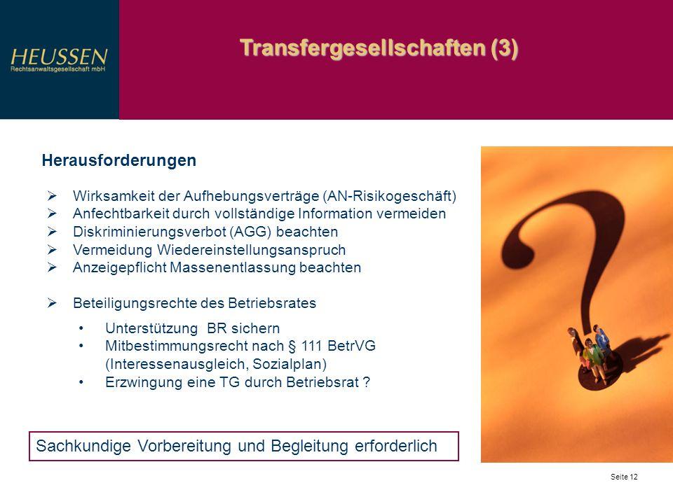 Transfergesellschaften (3)