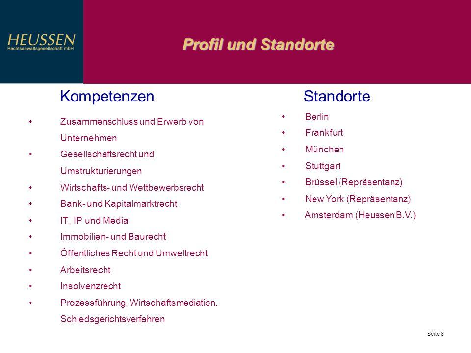 Profil und Standorte Kompetenzen Standorte Berlin Frankfurt München