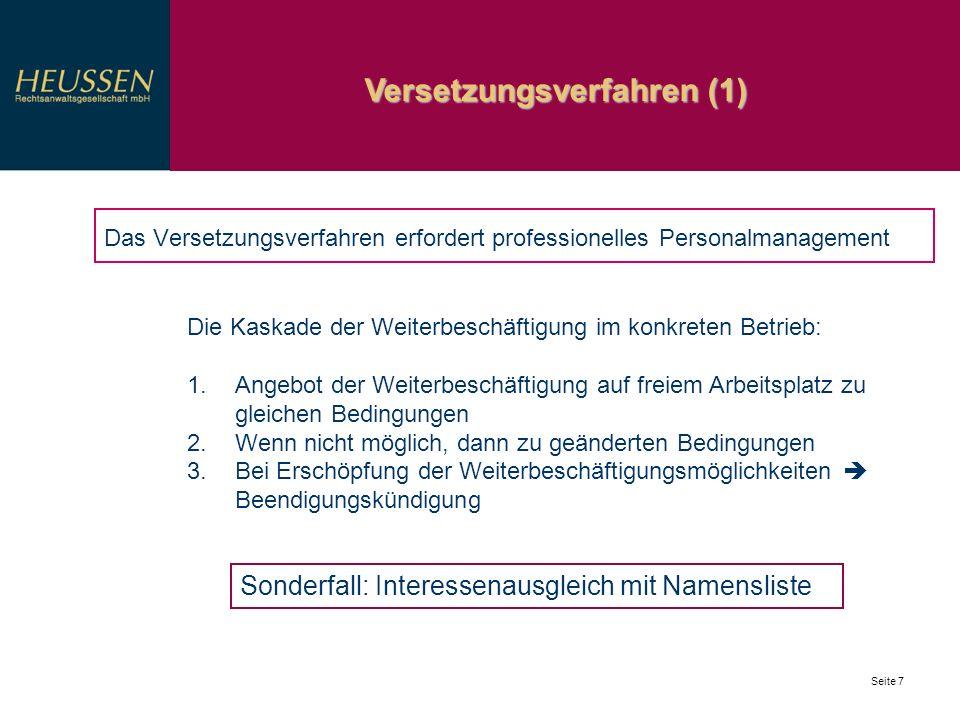 Versetzungsverfahren (1)