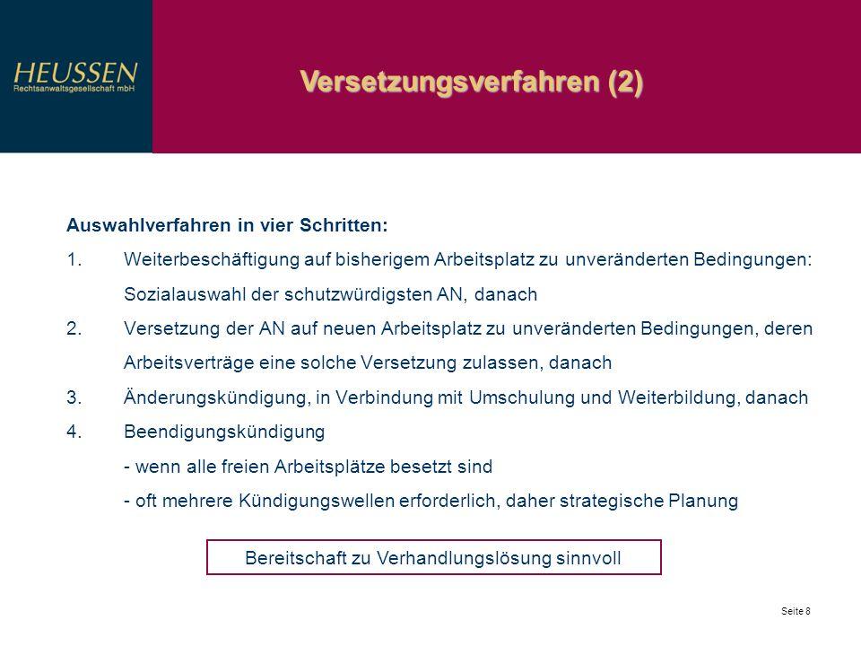 Versetzungsverfahren (2)