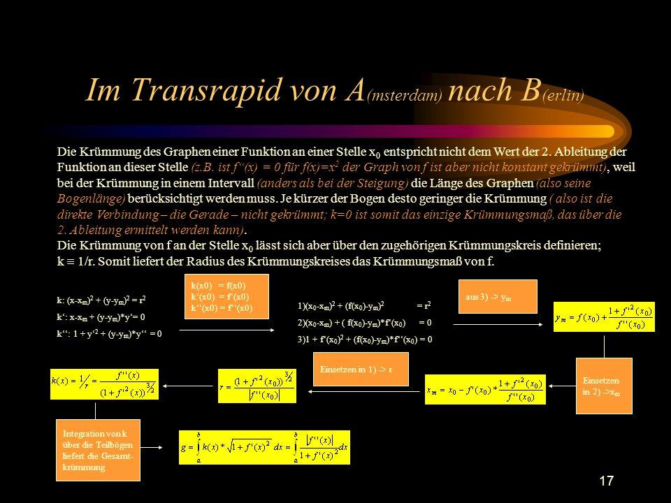 Im Transrapid von A(msterdam) nach B(erlin)