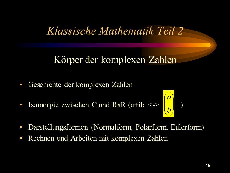 Klassische Mathematik Teil 2
