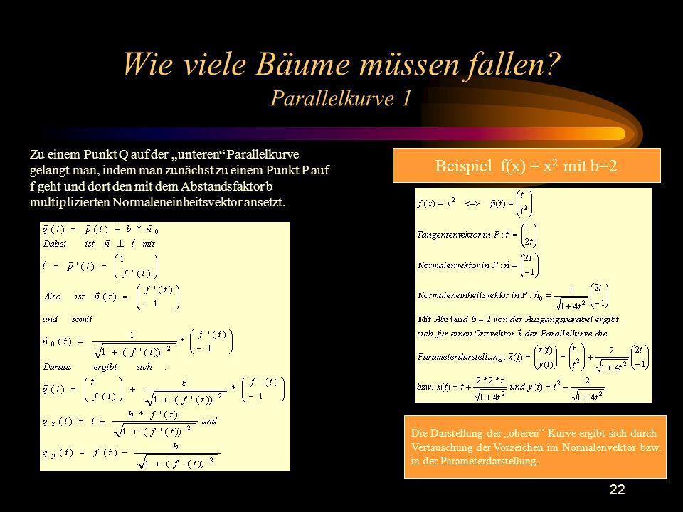 Wie viele Bäume müssen fallen Parallelkurve 1