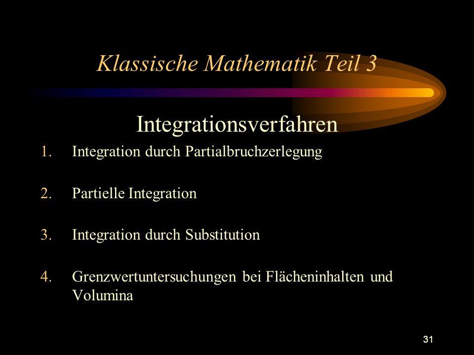 Klassische Mathematik Teil 3