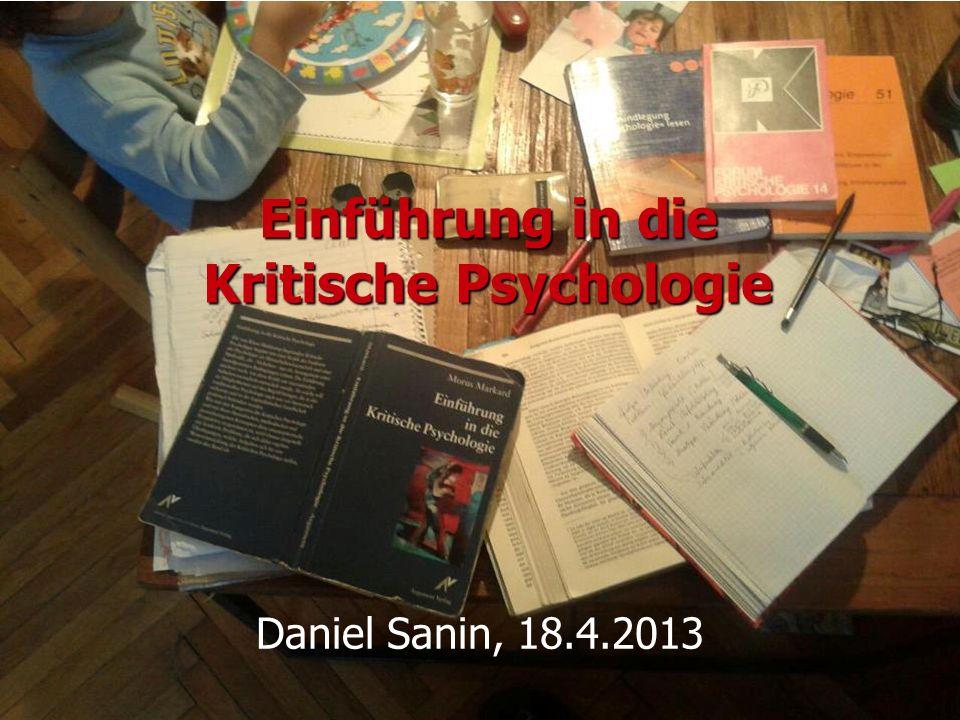 Einführung in die Kritische Psychologie