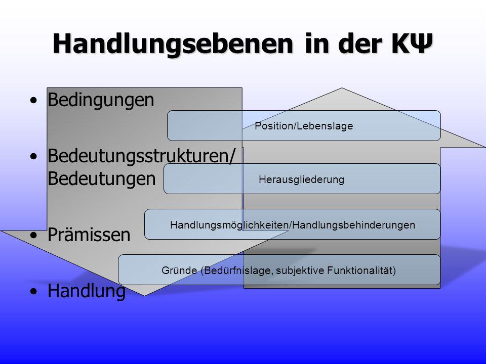 Handlungsebenen in der KΨ