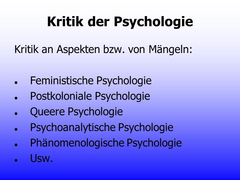 Kritik der Psychologie