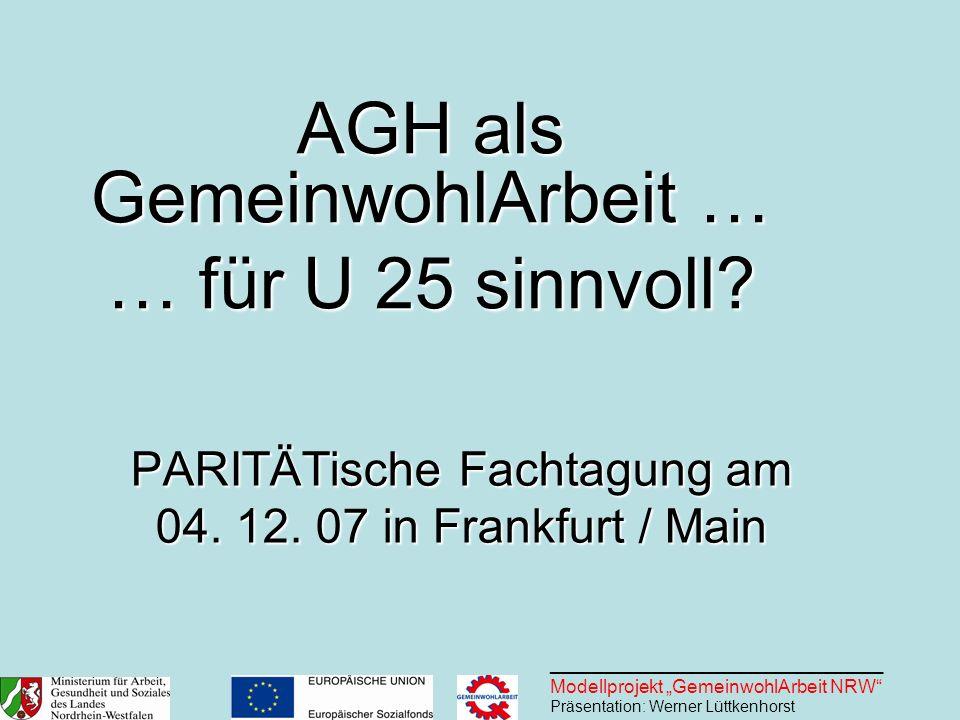 PARITÄTische Fachtagung am 04. 12. 07 in Frankfurt / Main