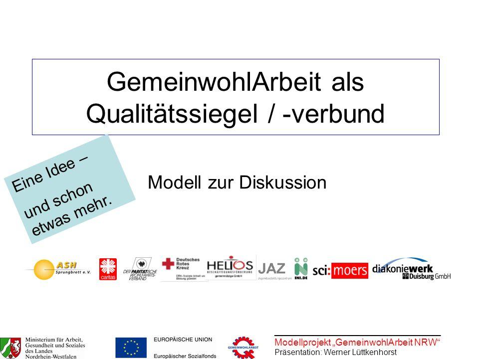 GemeinwohlArbeit als Qualitätssiegel / -verbund