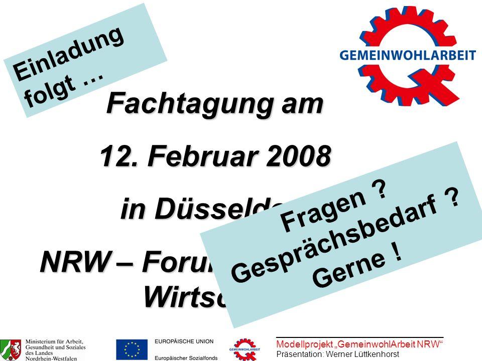 NRW – Forum Kultur und Wirtschaft Fragen Gesprächsbedarf Gerne !