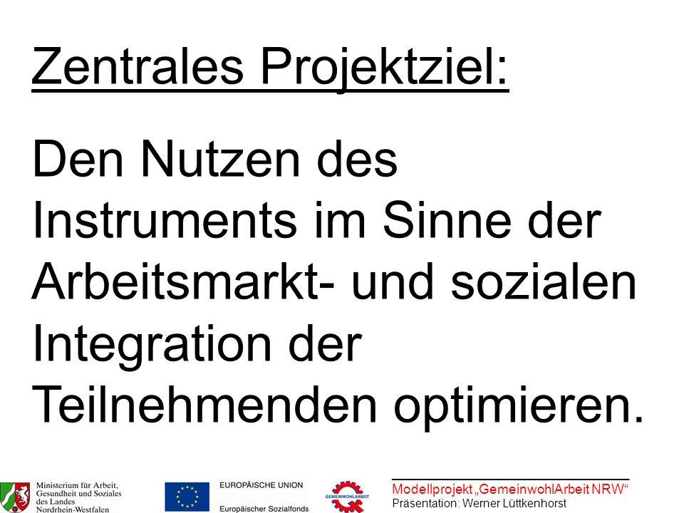 Zentrales Projektziel: