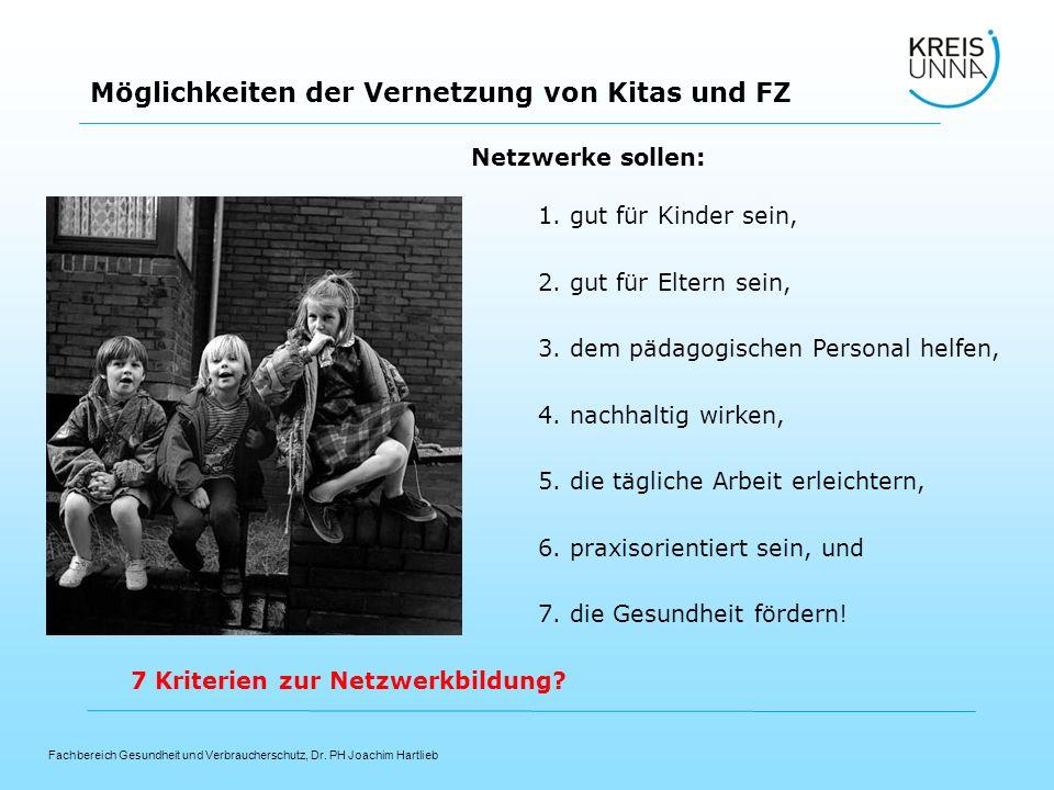 Netzwerke sollen: 1. gut für Kinder sein, 2. gut für Eltern sein, 3. dem pädagogischen Personal helfen,