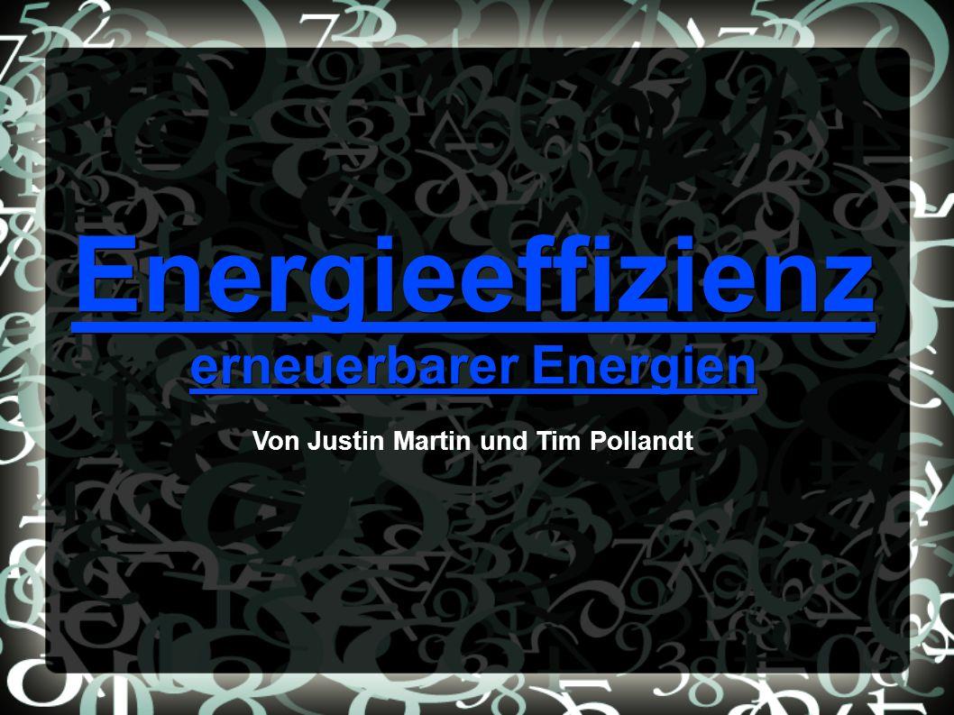 erneuerbarer Energien Von Justin Martin und Tim Pollandt