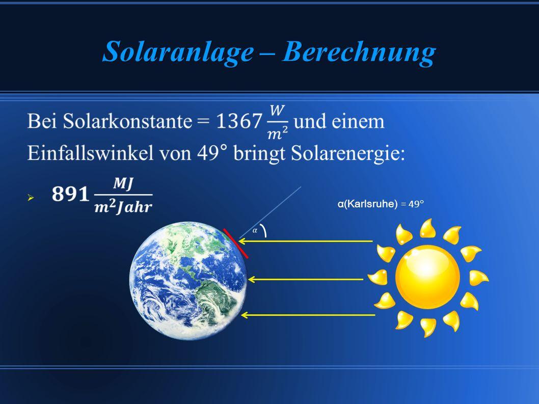 Solaranlage – Berechnung