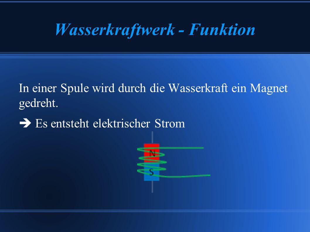 Wasserkraftwerk - Funktion