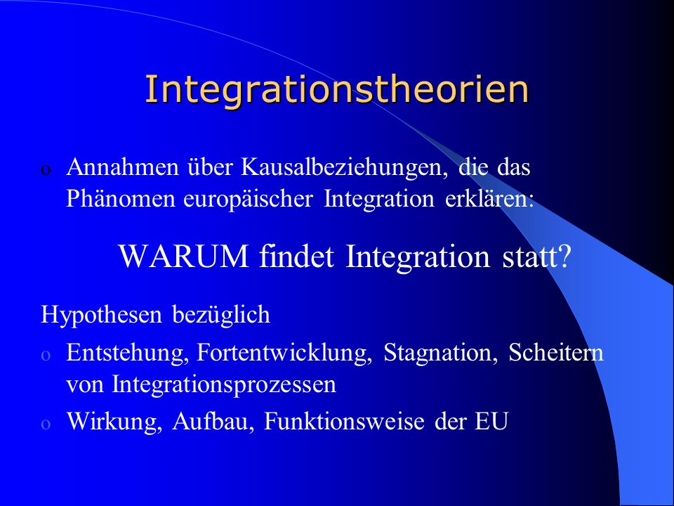 Integrationstheorien