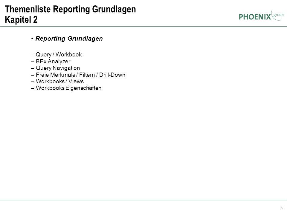 Themenliste Reporting Grundlagen Kapitel 2