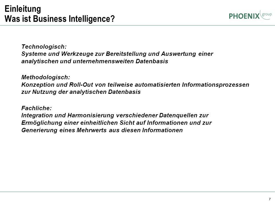 Einleitung Was ist Business Intelligence
