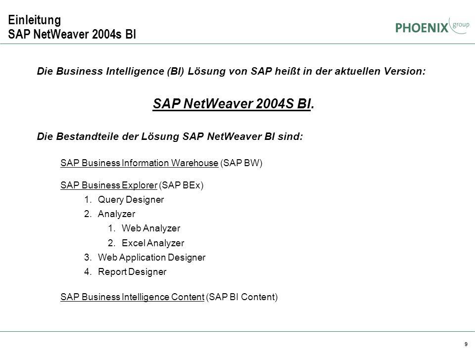 Einleitung SAP NetWeaver 2004s BI