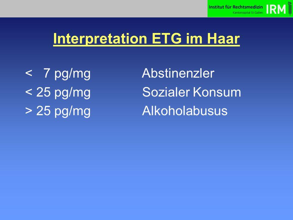 Interpretation ETG im Haar