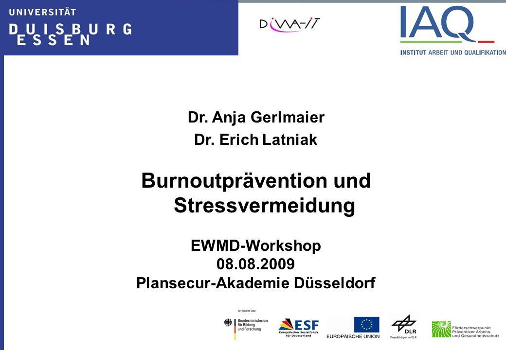 Burnoutprävention und Stressvermeidung Plansecur-Akademie Düsseldorf