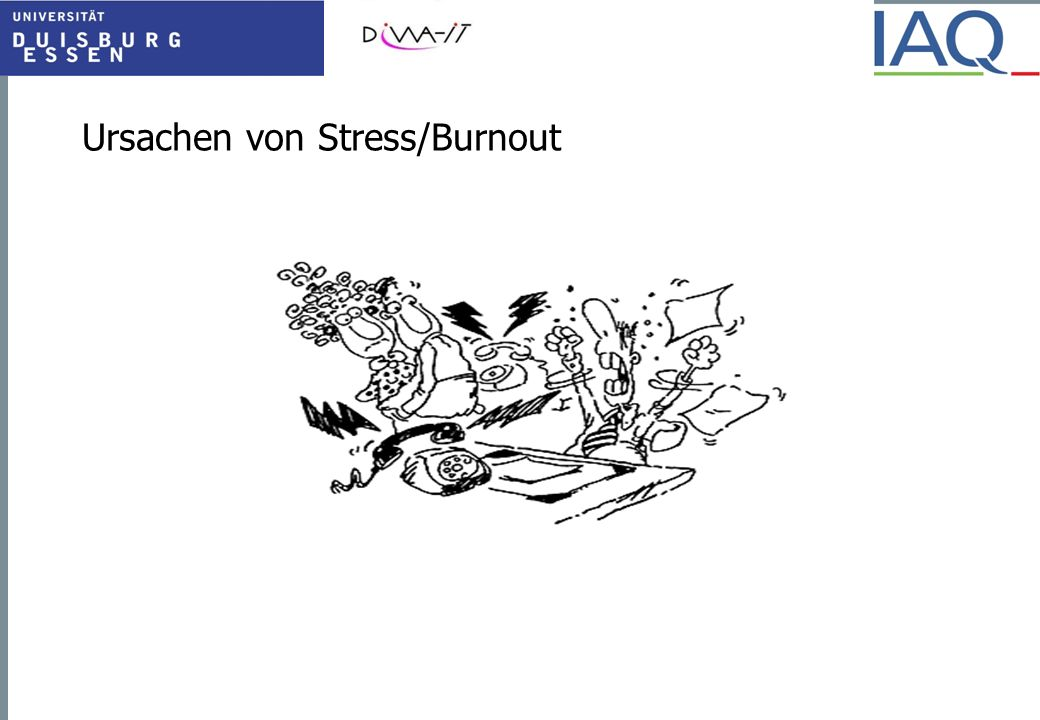 Ursachen von Stress/Burnout