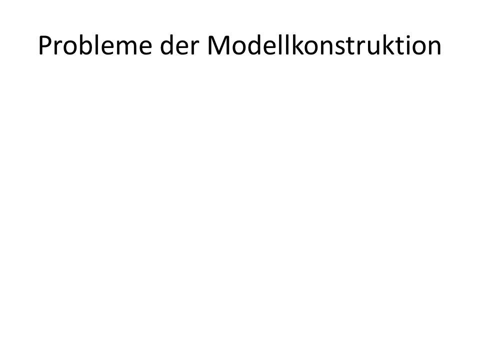 Probleme der Modellkonstruktion